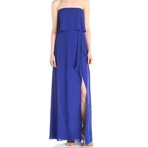 Bcbg MAXAZRIA Royal Blue gown strapless